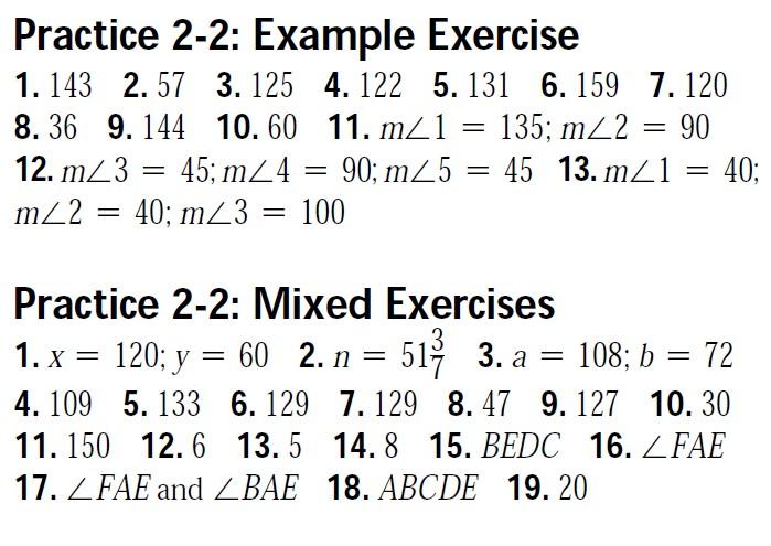 Geometry Worksheet Answer Keys - MHSHS Wiki