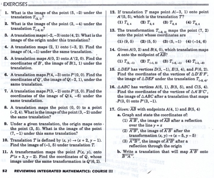 math worksheet : geometry worksheets  mhshs wiki : Translation Maths Worksheets