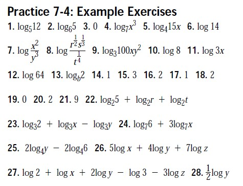 Algebra practice worksheets with answers