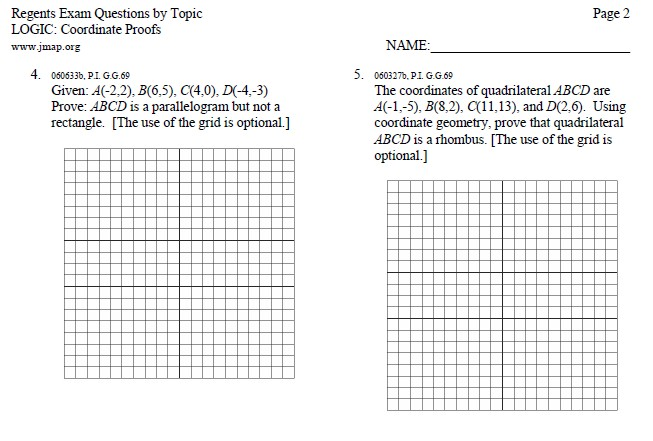 Geometry Worksheets MHSHS Wiki – Geometry Proofs Worksheets with Answers