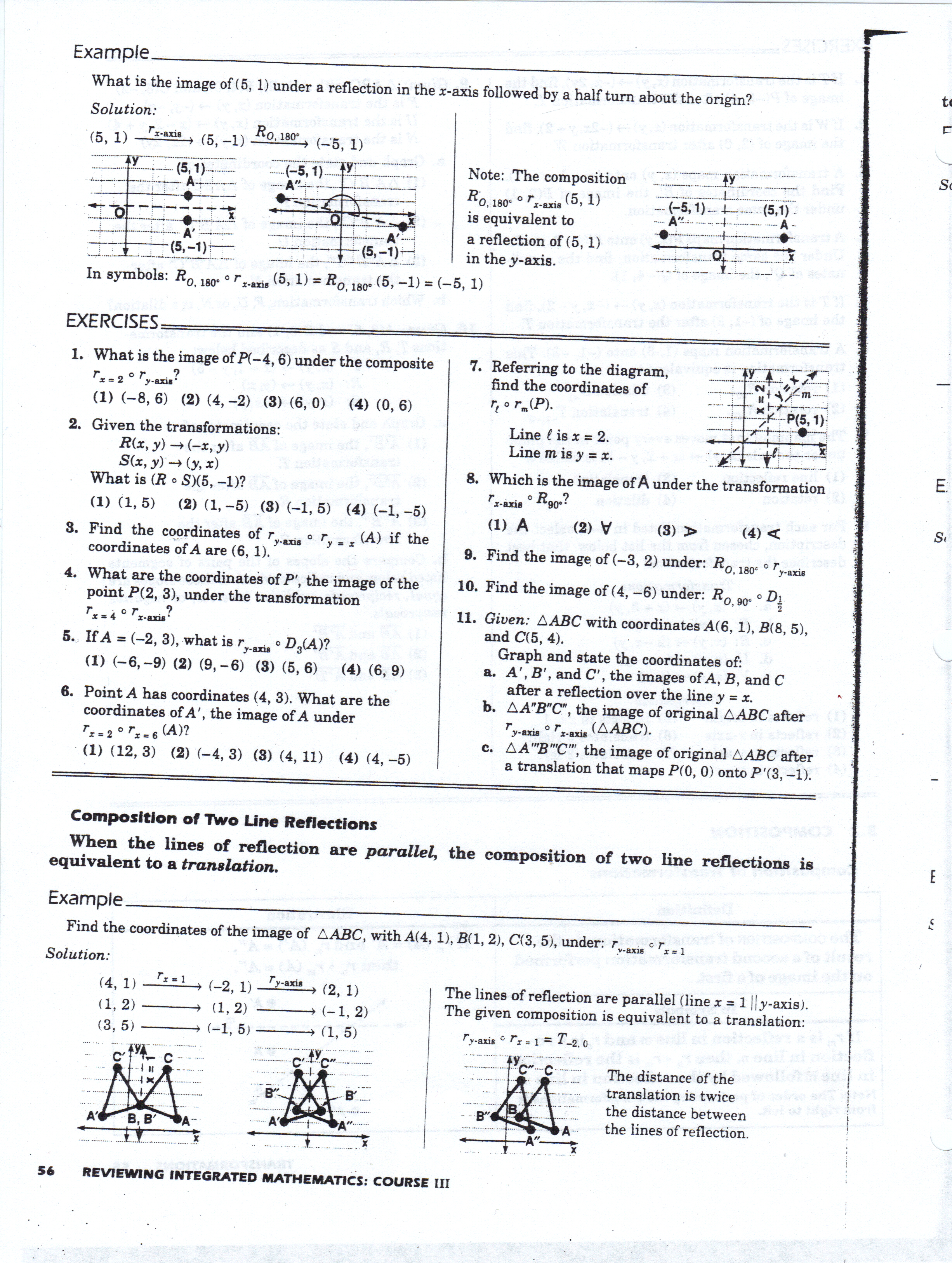 Printables Properties Of Parallelograms Worksheet geometry worksheets mhshs wiki symmetry worksheet composite transformations p55 p56 properties of parallelograms